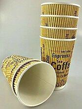 16oz (455ml) Druck-Design Power geriffelt Papier