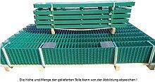 17,50 Meter Doppelstabmattenzaun Zaunanlage Gartenzaun / Komplettpaket in RAL 6005 Moosgrün Höhe 163cm/ Maschenweite: 50/200mm / Drahtstärke: 6/5/6 mm / Komplettpaket (Zaunfelder/Pfosten/Befestigungsmaterial)