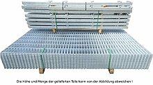 17,50 Meter Doppelstabmattenzaun Zaunanlage Gartenzaun Zaun / feuerverzinktes Komplettpaket Höhe 183cm/ Maschenweite: 50/200mm / Drahtstärke: 6/5/6 mm / Komplettpaket (Zaunfelder/Pfosten/Befestigungsmaterial)