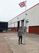 17ft Commercial Fahnenstange Aluminium Fahnenmast mit Flagge schwere Pflich