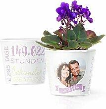 17. Hochzeitstag Geschenk – Blumentopf (ø16cm)