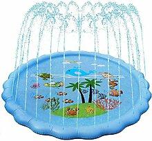 170cm Splash Pad Sprinkler, PVC Play Matte,