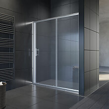 170x185cm Schiebetür Dusche Klarglas Duschwand -