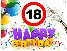 18. Geburtstag Geburtstagsbanner Geburtstags Plane