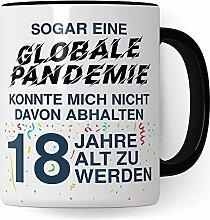 18. Geburtstag Junge Tasse, Geschenk 18 Geburtstag