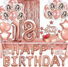 Iinschlie/ßlich Happy Birthday Girlande Newlemo Geburtstagsdeko Rosegold Geburtstagsdeko M/ädchen Party Deko 75 Artikel Tischdecke Konfetti Ballons Ros/égold Luftballons