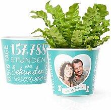 18. Hochzeitstag Geschenk – Blumentopf (ø16cm)