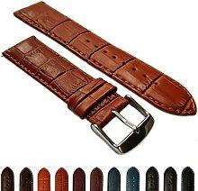 18mmladies echtes Leder Mock Croc Armbanduhr