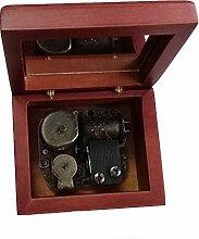 18Note Aufzieh Holz Musik Box Mit Bronze