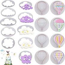 18 Stück Heißluftballons Wolke Fondant