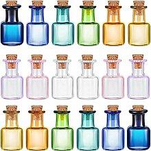 18 Stück Mini-Glas-Flaschen, Wunschflaschen,
