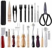 18-teiliges Leder-Werkzeug-Set