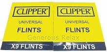 18x Clipper Feuerzeug Feuersteine, für alle Art