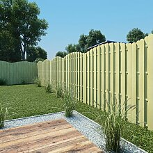 180 cm x 180 cm Gartenzaun aus Holz ClearAmbient