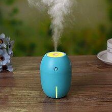180 ml Lemon Mini Tragbare USB-Luftbefeuchter DC 5V LED-Licht Luftreiniger Mist Maker für Home Office Car 8 x 8 x 11 cm, blau Zitrone
