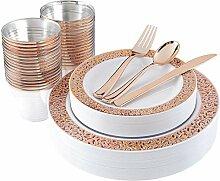 180-teiliges Kunststoff-Teller-Set in