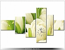 180 x 100 cm - Blumen - Tulpen - Tisch modern - Dekoration - Wanduhr neues DESIGN