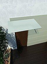 180 x 90 cm Glasvordach Milchglas Vordach