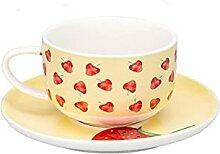 180Ml Erdbeere Keramik Obst Muster Kaffeetasse Set