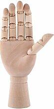 18cm Modellhand aus Holz Gliederhand