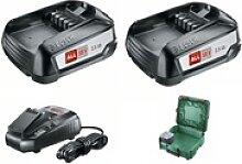 18V Batterie-Set Starter Set 2x Akku + Ladegerät
