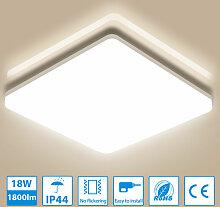 18W LED Deckenleuchte Bad, IP44 Wasserfest