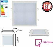 18W LED Panel Einbaustrahler 225x225mm Spot