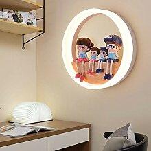 18W Wandlampe LED Innen Rund Ring Holz und Acryl