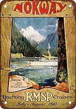 1911rmsp Yachting törns Norwegen Vintage Look