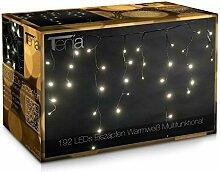 192 LED Lichterkette Lichtervorhang Eiszapfen