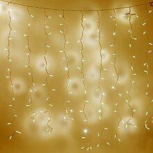 192er LED Lichtervorhang 2m x 2m warmweiß koppelbar Typ CC, Innen Außen