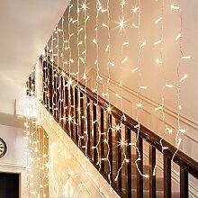 192er LED Lichtervorhang warmweiß 4m x 1m