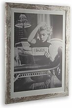 1a Bilderrahmen Monzetta 33x89 Weiss Vintage