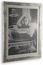 1a Bilderrahmen Monzetta 65x85 Weiss Vintage