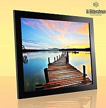 1a Bilderrahmen Monzetta 80x120 Schwarz matt