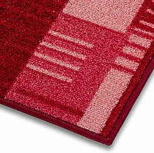 1A Teppich-Läufer auf Maß gekettelt   Murano (100x700, rot)