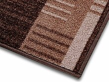 1A Teppich-Läufer auf Maß gekettelt   Murano (80x500, braun)