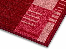 1A Teppich-Läufer auf Maß gekettelt   Murano (80x800, rot)