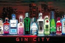 1art1 102163 Bars - Gin City Selbstklebende