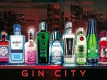 1art1 102172 Bars - Gin City, 2-Teilig Fototapete