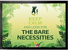 1art1 102212 Motivation - Keep Calm And Look For The Bare Necessities Fußmatte Türmatte 70 x 50 cm