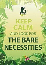 1art1 102215 Motivation - Keep Calm And Look For The Bare Necessities, 2-Teilig Fototapete Poster-Tapete 250 x 180 cm
