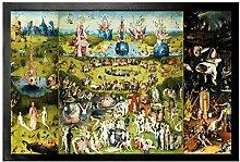 1art1 102229 Hieronymus Bosch - Der Garten Der Lüste, 1500 Fußmatte Türmatte 60 x 40 cm