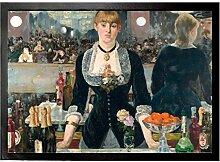 1art1 102238 Edouard Manet - Eine Bar In Den Folies-Bergère, 1881-1882 Fußmatte Türmatte 70 x 50 cm