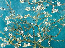 1art1 102380 Vincent Van Gogh - Blühende Mandelbaumzweige, 1890, 2-Teilig Fototapete Poster-Tapete 240 x 180 cm