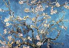 1art1 102406 Vincent Van Gogh - Blühende Mandelbaumzweige, 1890, 3-Teilig Fototapete Poster-Tapete 360 x 250 cm