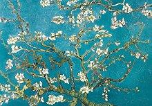 1art1 102407 Vincent Van Gogh - Blühende Mandelbaumzweige, 1890, 3-Teilig Fototapete Poster-Tapete 360 x 250 cm