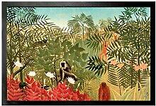 1art1 102817 Henri Rousseau - Tropischer Wald mit