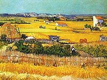 1art1 102841 Vincent Van Gogh - Die Ebene La Crau Bei Arles mit Montmajour Im Hintergrund, 1888, 2-Teilig Fototapete Poster-Tapete 240 x 180 cm