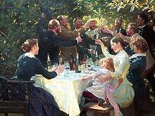 1art1 105105 Peter Severen Kroyer - Hip, Hip, Hurra! Künstlerfest In Skagen, 1888, 2-Teilig Fototapete Poster-Tapete 240 x 180 cm